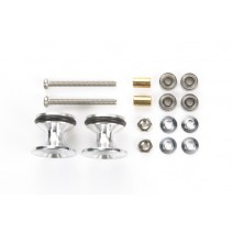 JR Double Aluminum Rollers - w/Rubber Rings (13-12mm)  #15418