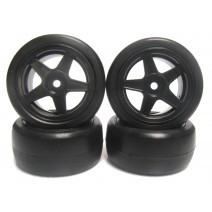 Mini Rubber Tire Set (Pre-Glue,36R)  #TP-MPG3604