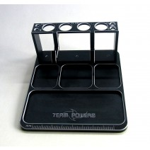 Aluminium Part Tray with Mobile Phone/Damper holder (black)  #TP-PT-B2