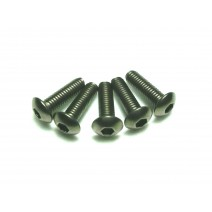 Titanium Screw, 3 x 12mm (Round Head, 8pcs) #TP-BH 3X12T