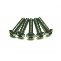 Titanium Screw, 3 x 14mm (Round Head, 8pcs) #TP-BH 3X14T