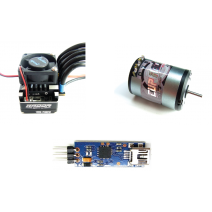 Radon Sport(95A) V2 Speed Control (included USB device) + Cup Racer Sensored Brushless motor 10.5T with USB included #TP-Radon/SportV2-C-BLM105100CR