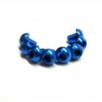 Aluminium Screw 8pcs, 3 x 4mm (Round Head) - Blue  #RO-ABH 3x4T-B
