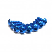 Aluminium Screw 8pcs, 3 x 8mm (Round Head) - Blue  #RO-ABH 3x8T-B