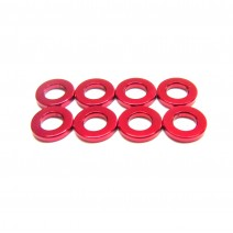 Aluminium 3mm Washer 8pcs , 1.0mm - Red  #RO-AW10-R