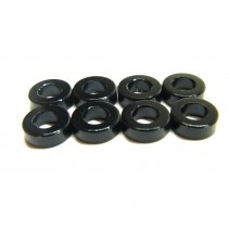 Aluminium 3mm Washer 8pcs , 2.0mm - Black  #RO-AW20-BK
