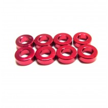 Aluminium 3mm Washer 8pcs , 2.0mm - Red  #RO-AW20-R