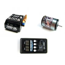 XPS EL Speed Control V2 (45A) + Cup Racer Sensored Brushless motor 10.5T, with LED card included #TP-XPS/EL-v2-C--BLM105100CR